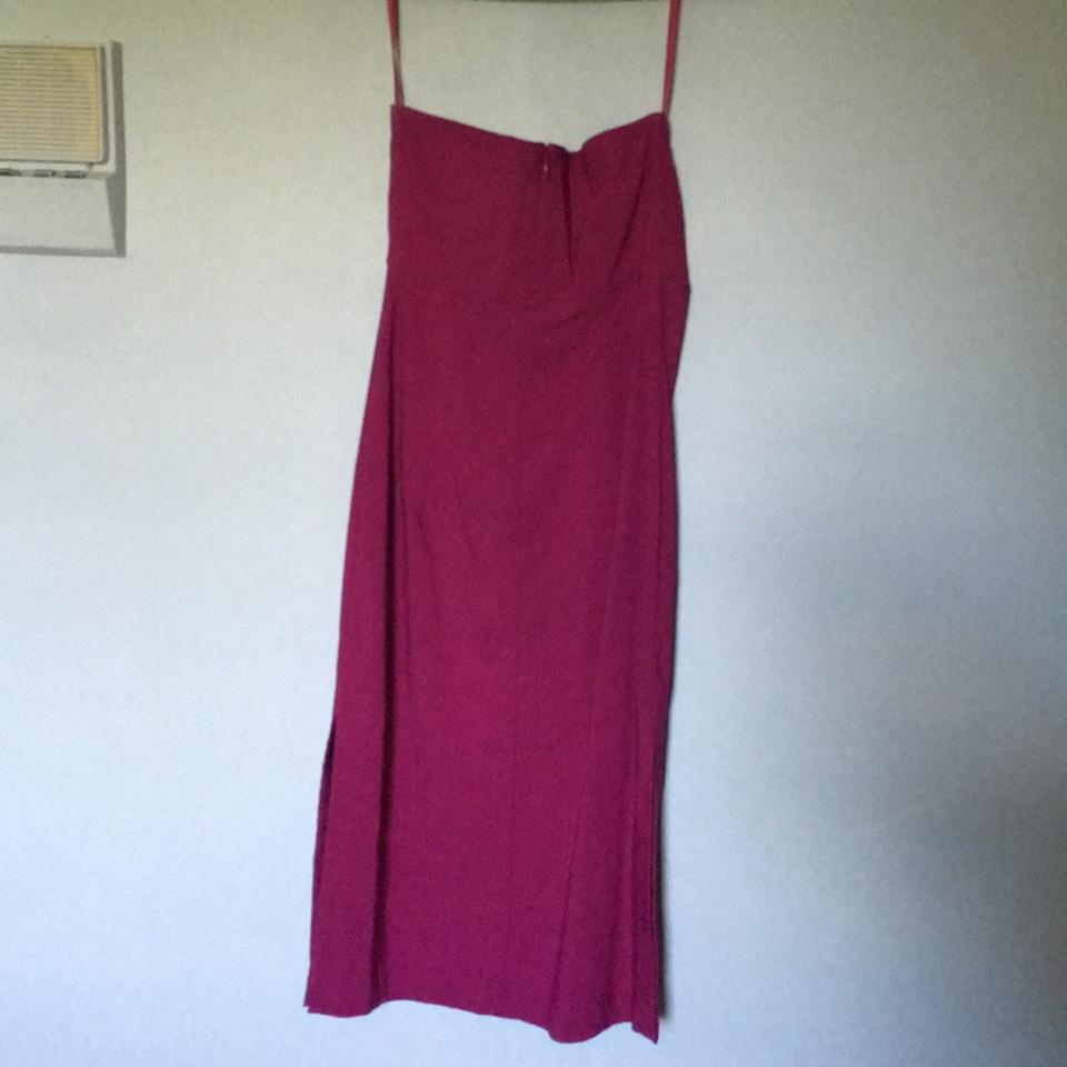 Express Magenta Strapless Knee Length Cocktail Dress Size 4 (S ...