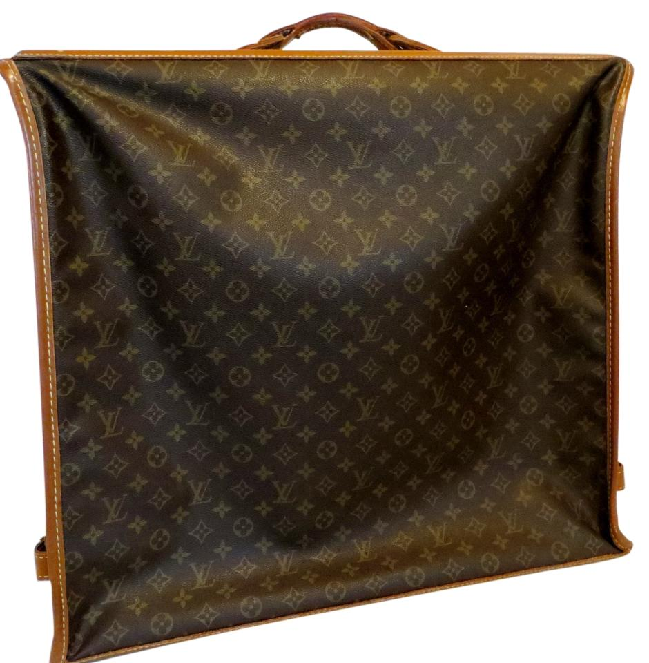 louis vuitton and folding hanging suitcase brown monogram leather