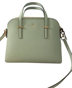 Kate Spade Leather Satchel in Mint