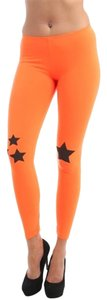 Hippie Neon Orange Leggings