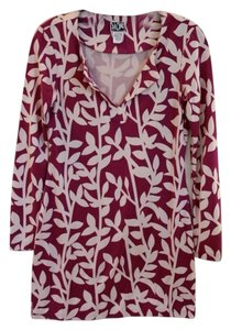 Diane von Furstenberg short dress Violet Dvf Tunic Print on Tradesy