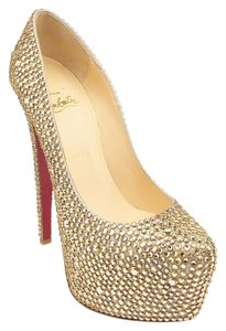 Christian Louboutin Gold & Silver Daffodile 160 Gold,Silver Pumps