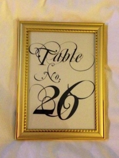 Gold Frames Table Numbers Reception Decoration