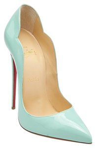 Christian Louboutin Louboutin Hot Chick Patent Blue Pumps