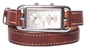 Hermès Hermes Brown Leather Cape Cod Double Wrap Watch