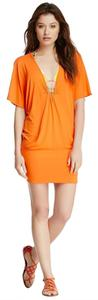Trina Turk short dress Tangerine Orange on Tradesy