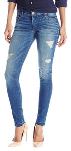 True Religion Halle Mid Rise Skinny Jeans-Distressed