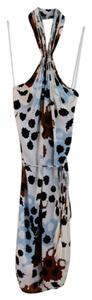 Diane von Furstenberg short dress Ivory Dvf Print Scoop Back Tassels on Tradesy