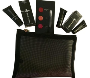 Giorgio Armani Beauty Bag w/ master primer lip colors foundation moisturizer
