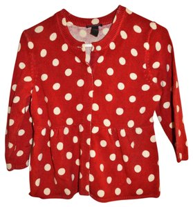 Lucky Brand Empire Waist Polka Dot Cardigan