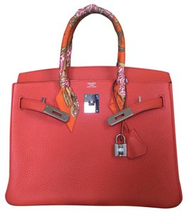 Hermès Satchel in Orange Poppy