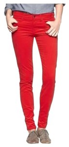 Gap Fun Trendy Chic Fitted Skinny Pants Red