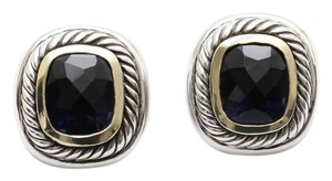 David Yurman David Yurman 14K Gold Sterling Silver ALBION Black Orchid Earrings