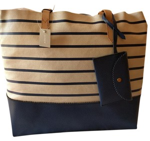 J.Crew Tote in Ivory & Navy