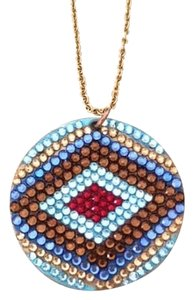 Pop Rock and Sugar One of a kind Evil Eye necklace with Swarovski crystals