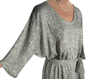 Lane Bryant short dress GRAY KNIT+A HINT OF GOLD THREAD New With Tag on Tradesy