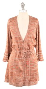 Magaschoni Nwt Metallic Space-dyed Tie-waist Cardigan