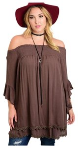 Bohemian Off Shoulder Relaxed Tunic