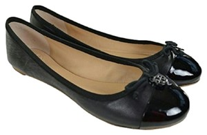 Tory Burch Cap Toe Black Flats