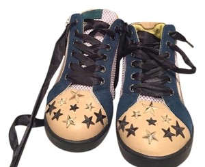 Just Cavalli Sneakers Suede Stars Nude, green Athletic