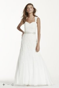 David's Bridal #7vw9768 Petite Cap Sleeve Wedding Dress With All Over Lace Wedding Dress