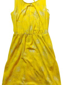 Ann Taylor LOFT short dress Yellow/Beige on Tradesy