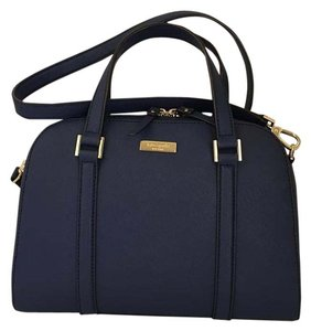 Kate Spade Leather Blue Satchel in Indigo/blue