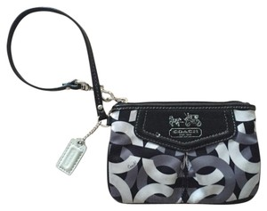 Coach Coach black and gray wristlet