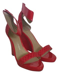 Shoes of Prey Red Wedges