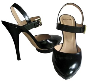 Bally Patent Leather Dress Open Black Pumps