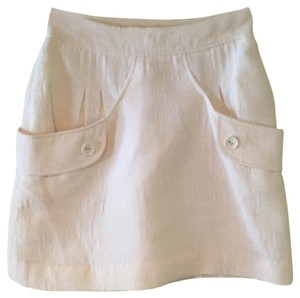 Tibi Mini Skirt White