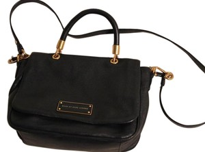 Marc by Marc Jacobs Leather Gold Hardware Satchel in Black