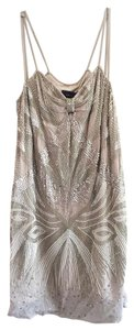 Mango Beaded Viscose Sequin Pockets Dress