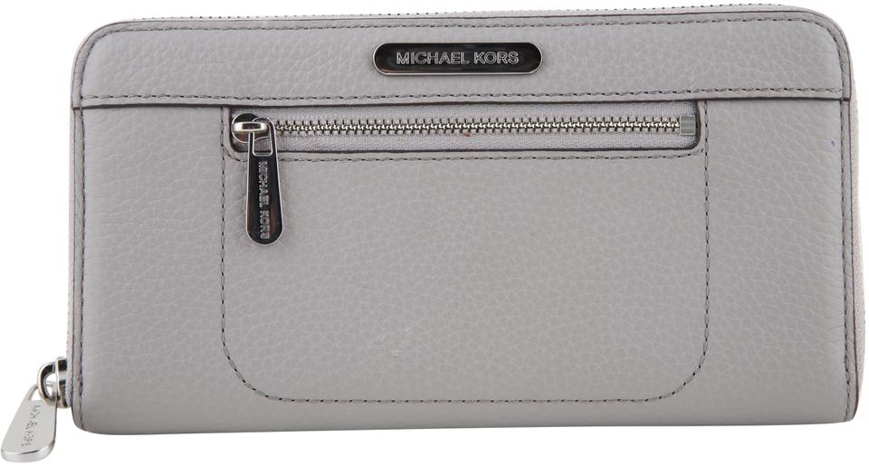 8af8156cc70a Michael Kors Gray Colgate Continental Pearl Wallet - Tradesy
