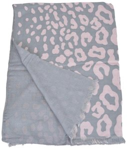 Gucci Gucci Women's 325338 Grey and Pink Cheetah GG Guccissima Modal Scarf