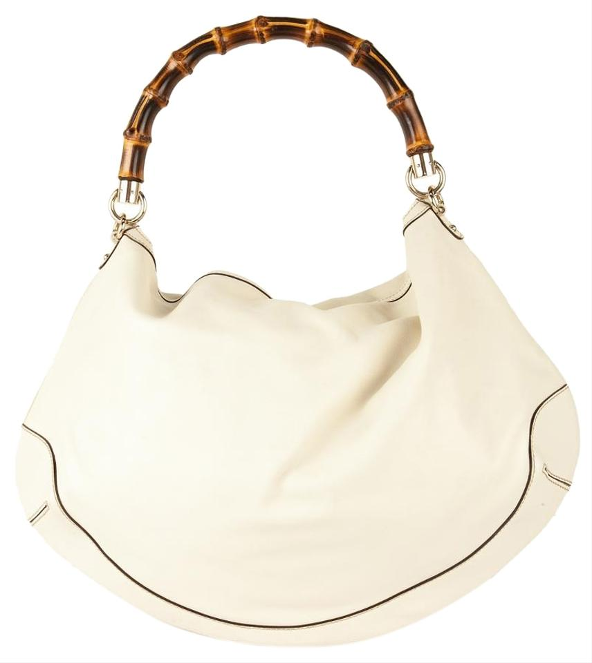 38b3fd8a8f11ea Gucci Diana with Bamboo Handle Off White Leather Shoulder Bag - Tradesy