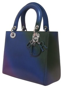Dior Lady Tote In Blue Green Purple As Picture