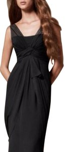 David's Bridal Wedding Bridesmaid Chiffon Sleeveless Evening Dress