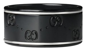 Gucci Icon Medium Band Black Synthetic Corundum with 18k Gold