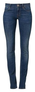 Guess Trendy Fitted Chic Summer Straight Leg Jeans-Dark Rinse