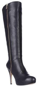 Vince Camuto Tall Platform Leather Black Boots