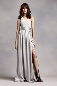 White By Vera Wang Sterling One Shoulder Dress With Satin Sash Vw360215 Dress