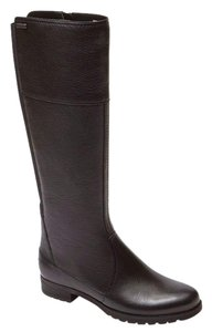 Rockport Leather Boot Designer Goring Black Boots