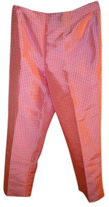 Ann Taylor Silk Checkered Pants