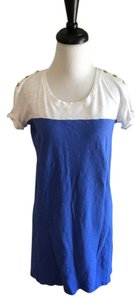 Nicole Miller short dress Blue and White Short Sleeve Mini on Tradesy