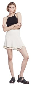 Reformation Mini Tassel Mini Skirt Cream