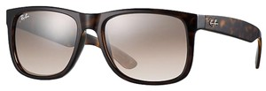 Ray-Ban Ray-Ban Justin at Collection with Brown/Silver Gradient Mirror Lenses
