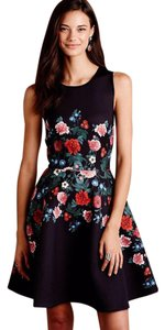 Anthropologie Rose Garland Scuba Dress
