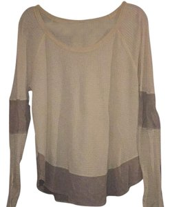 Free People T Shirt Tan / Light Brown