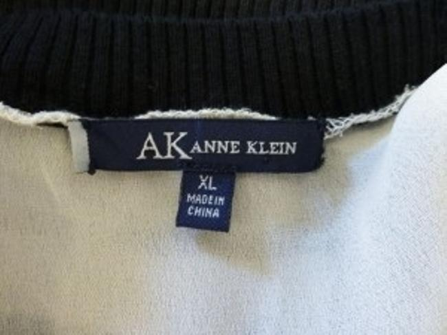 AK Anne Klein Top Black Brown Khaki Tan